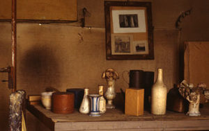 L'atelier de Girogio MOrandi- Photographie de Paolo Monti